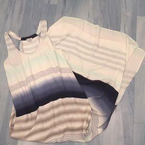 Splendid Striped Maxi Tank Dress w/ Slit Sz Small